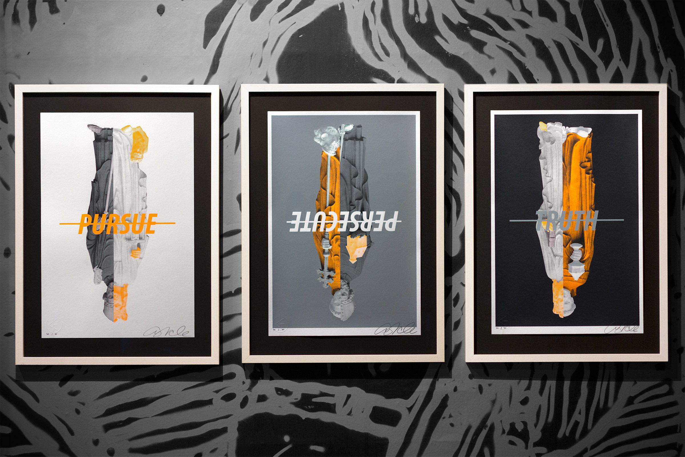 Prints by Cyrcle.  (3) 40 x 59cm Screenprints.  Ed of 30 S/N.  €250 ($340)