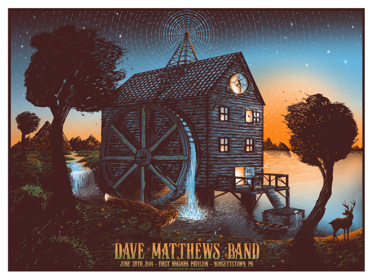 love Dave Matthews Band burgettstown pa 2014
