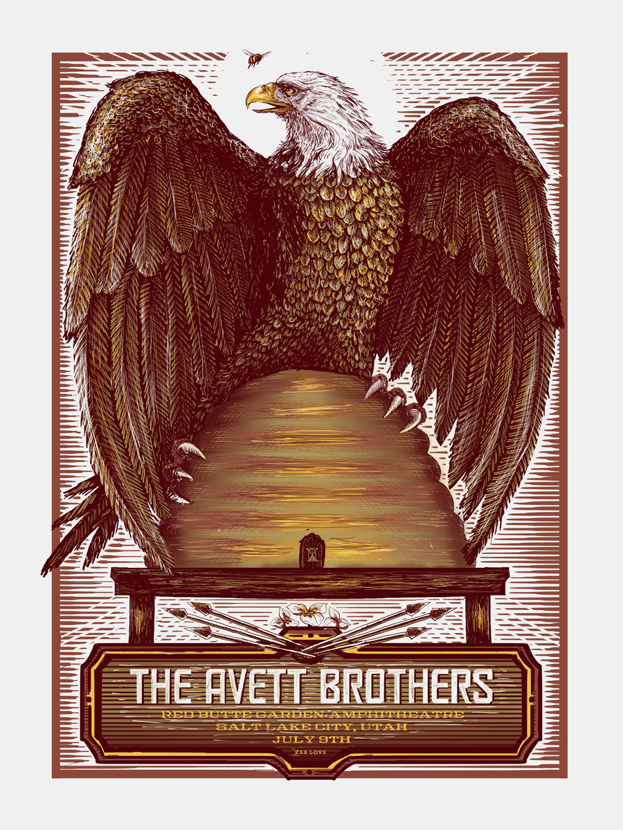 love the avett brothers salt lake city ut 2014 variant