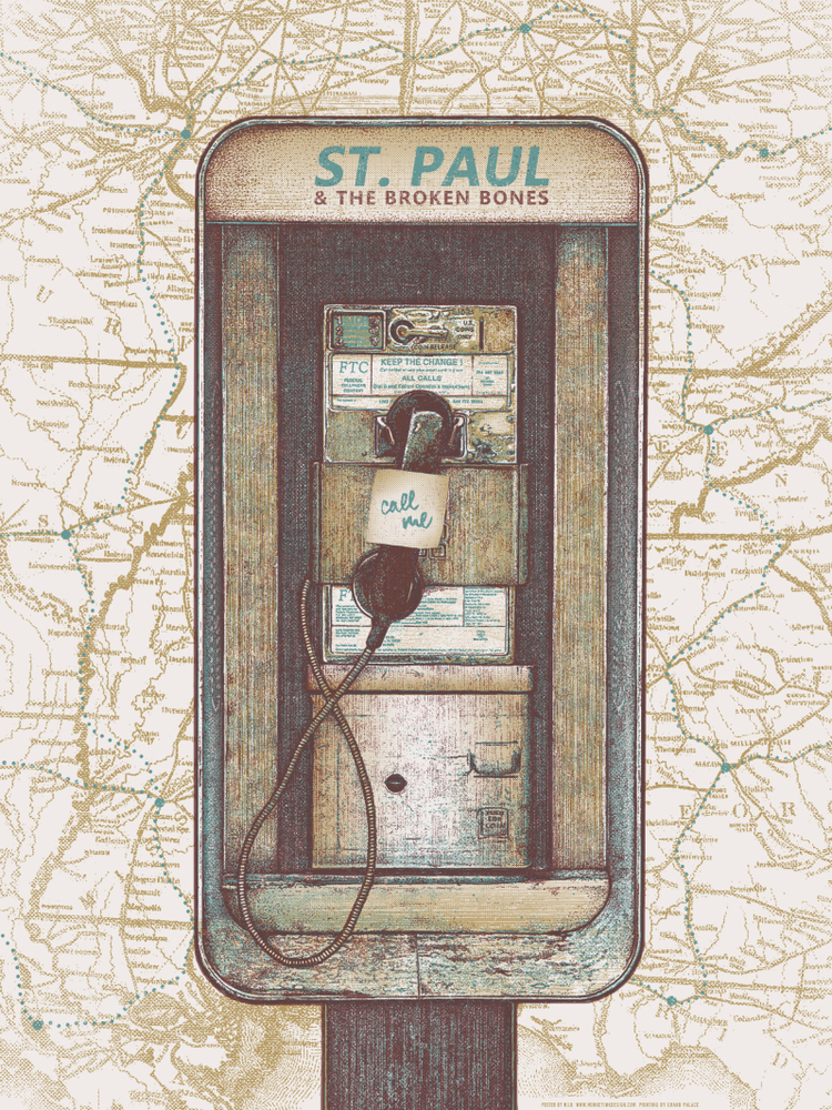mid St. Paul and the Broken Bones - 2014 Tour Poster variant