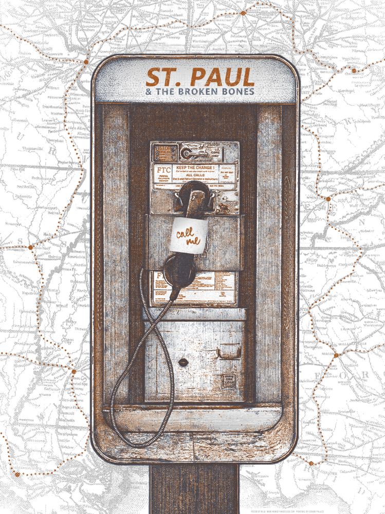 mid St. Paul and the Broken Bones - 2014 Tour Poster