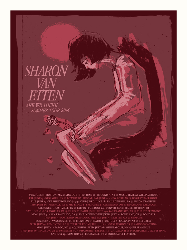 vogl Sharon Van Etten Summer Tour 2014