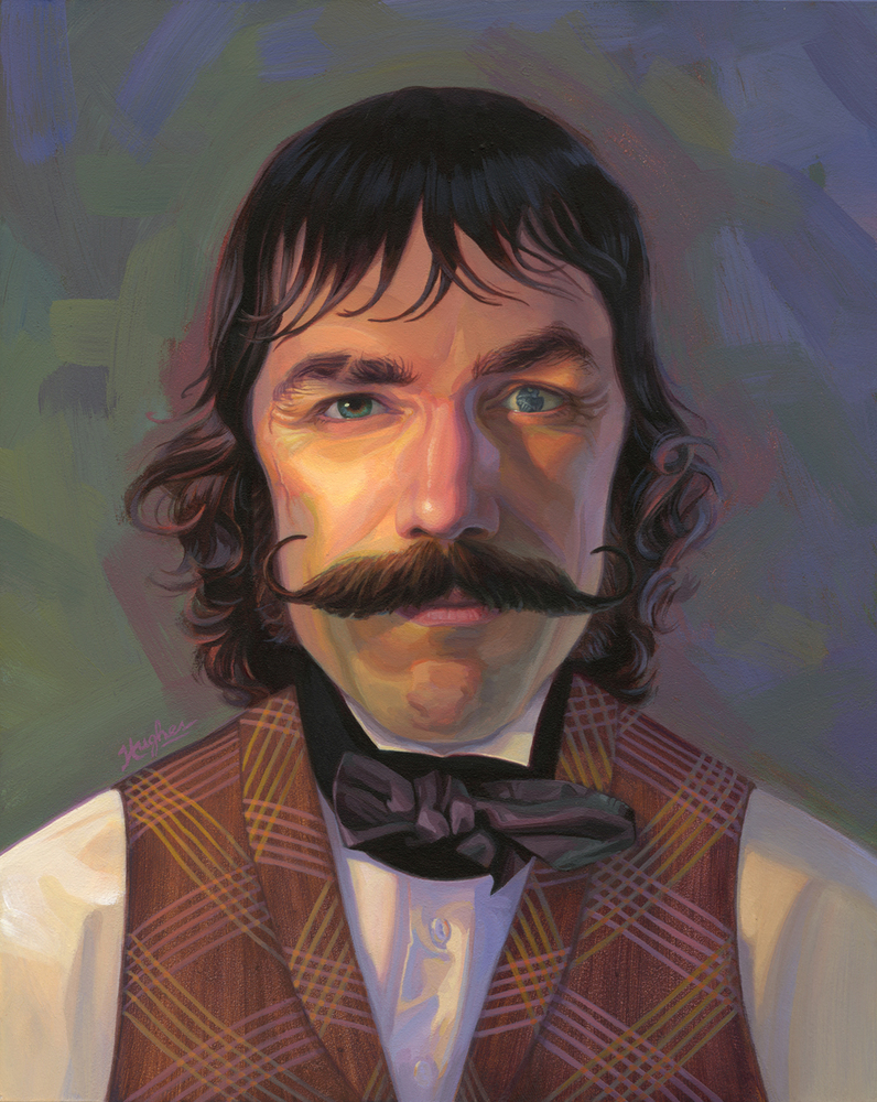 Gangs of New York Bill the Butcher Cutting Painting portrait