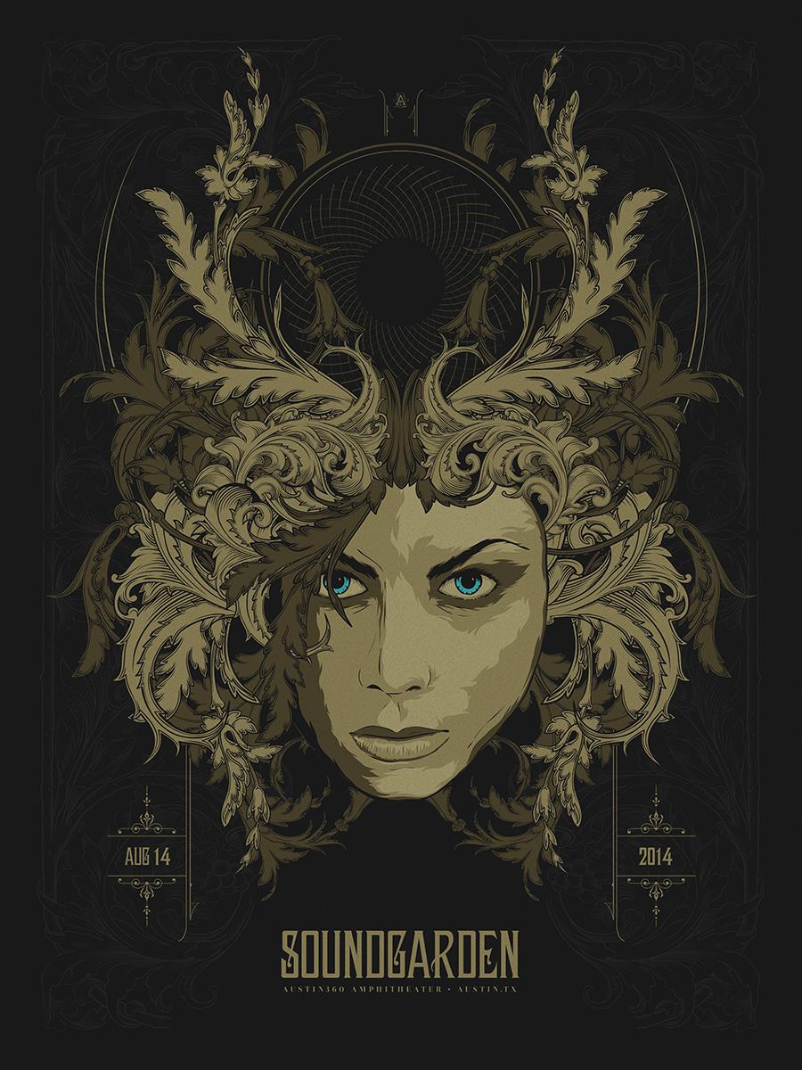 anonymous ink Soundgarden - Austin, TX 2014