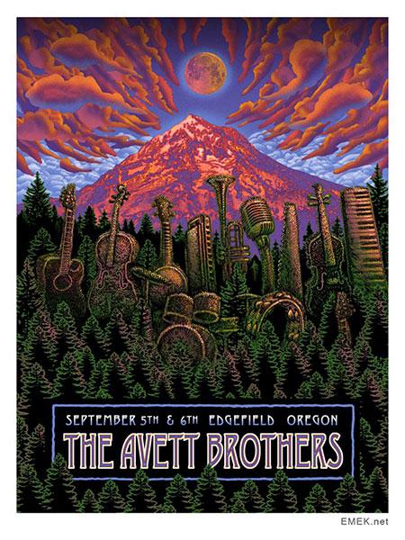 emek The Avett Brothers - Edgefield, OR 2014