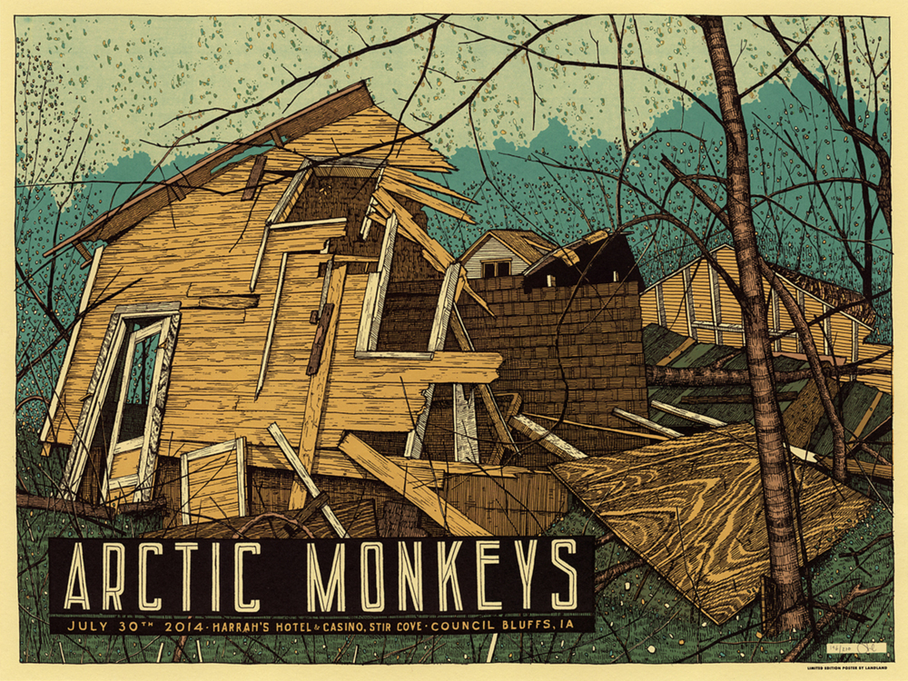 landland Arctic Monkeys Council Bluffs, IA 2014