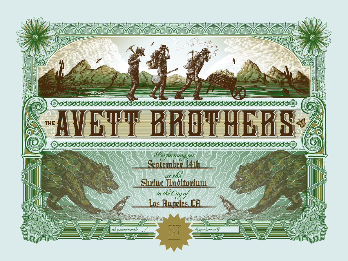 love the avett brothers los angeles ca 2014 variant