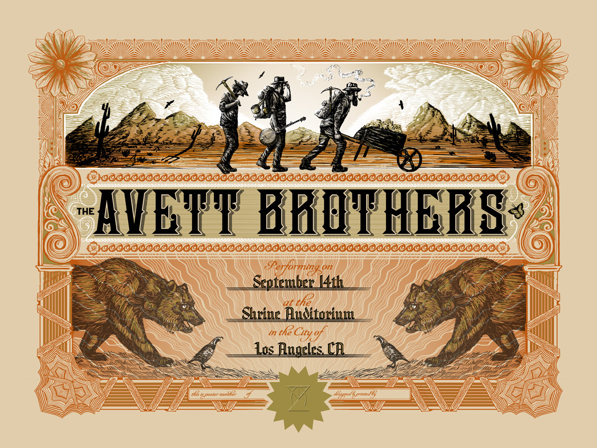 love the avett brothers los angeles ca 2014