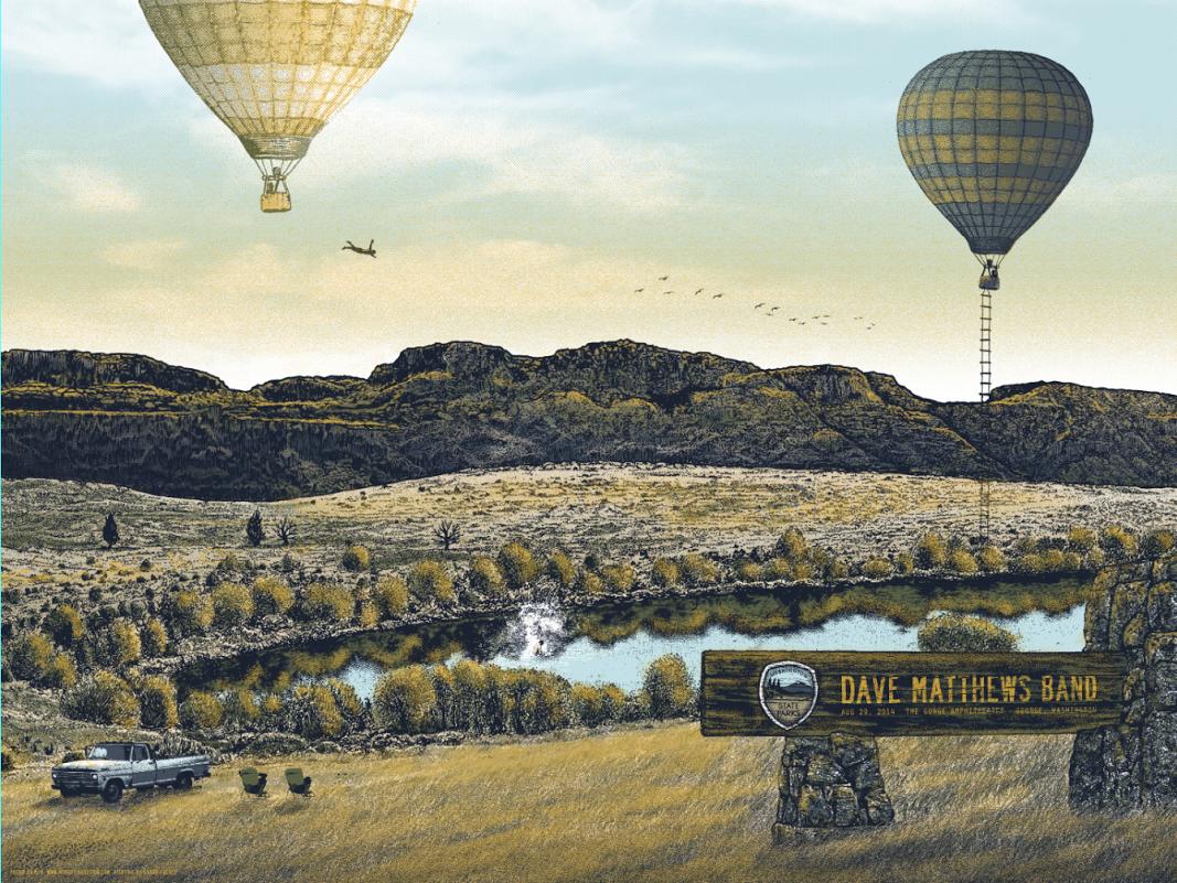 mid Dave Matthews Band - George, WA 2014