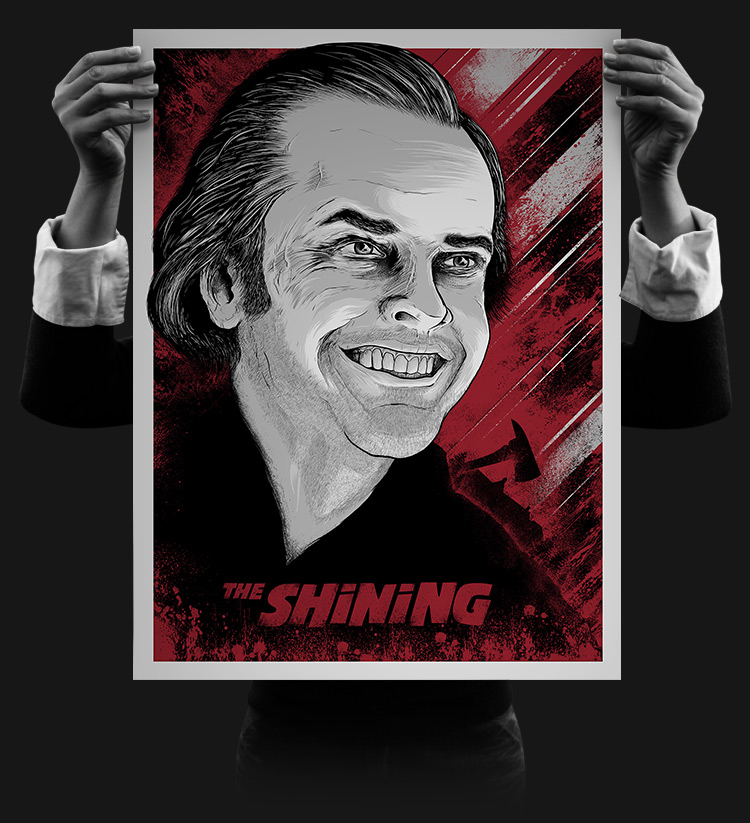 """The Shining"" by Matthew Johnson.  18"" x 24"" 18"" x 24"" 4-color Screenprint.  AP edition S.  $30"