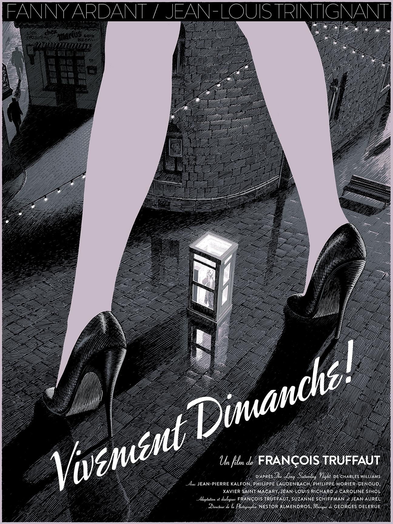 """""""Vivement Dimanche"""" by Francois Schuiten.  18"""" x 24"""" 5-color Screenprint.  Ed of 250 N.  €40 ($55)"""