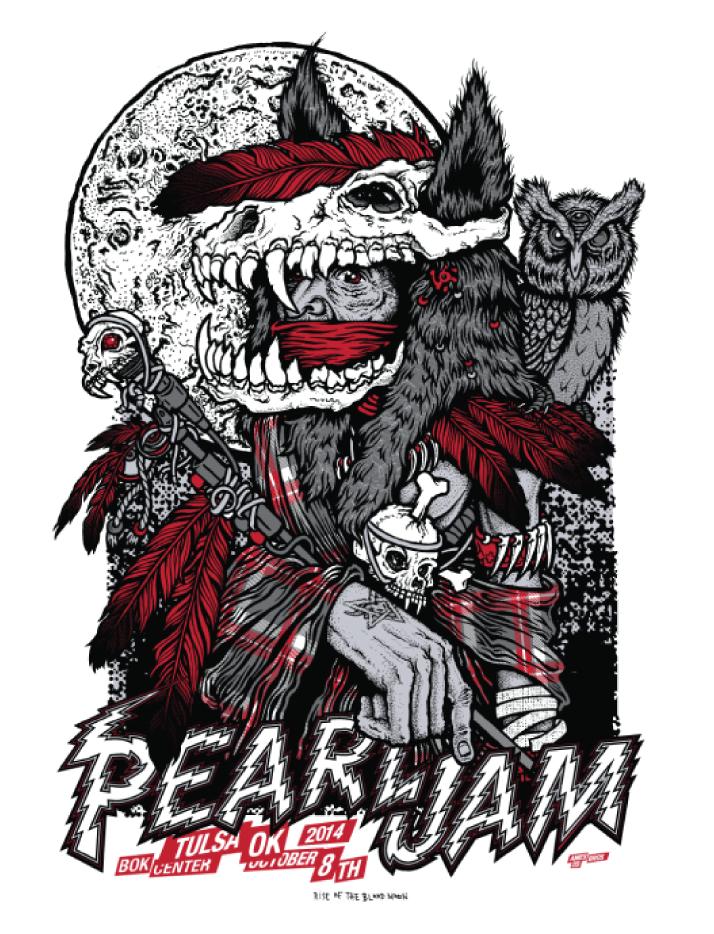 ames bros Pearl Jam - Tulsa, OK 2014