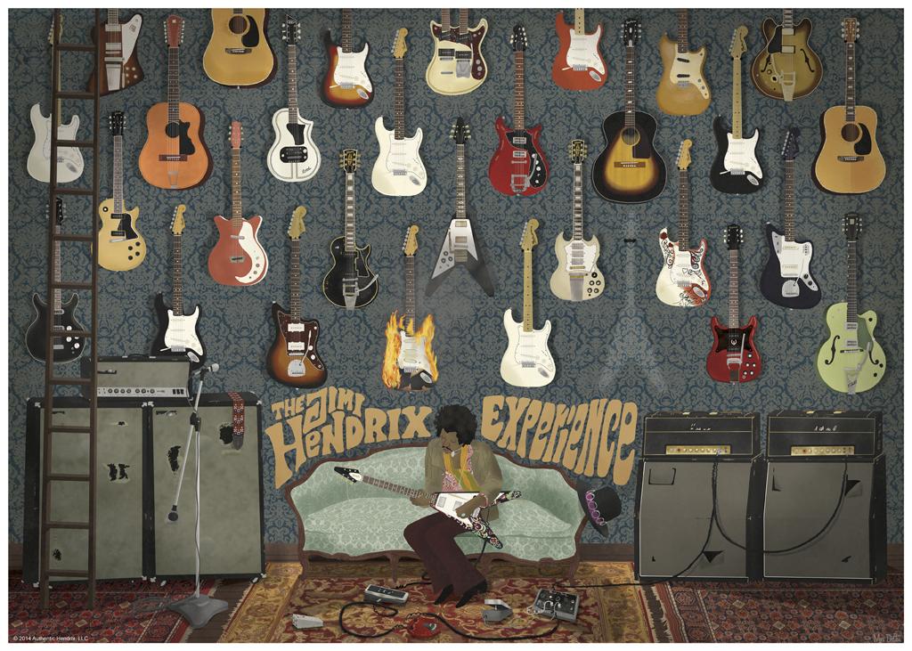 dalton The Jimi Hendrix Experience blue