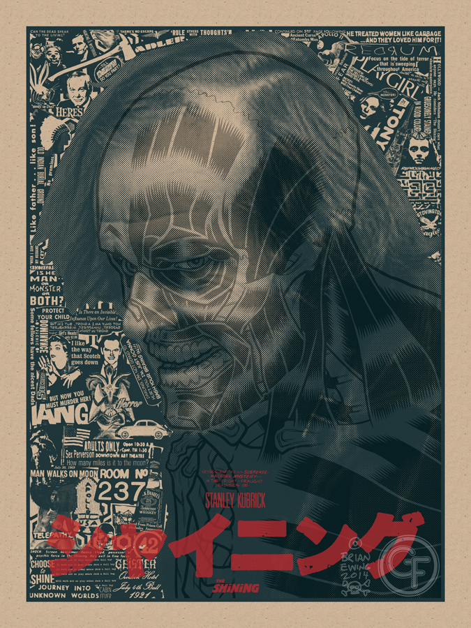 """The Shining"" by Brian Ewing.  18"" x 24"" Screenprint.  Ed of 30 N.  $75 (variant)"