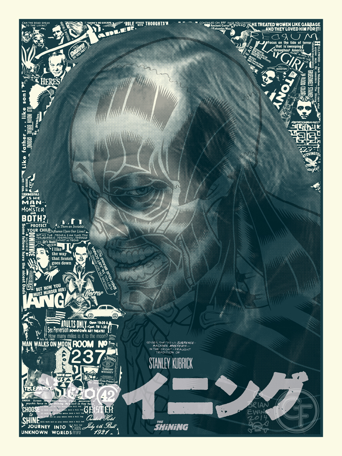 """The Shining"" by Brian Ewing.  18"" x 24"" Screenprint.  Ed of 50 N.  $50"