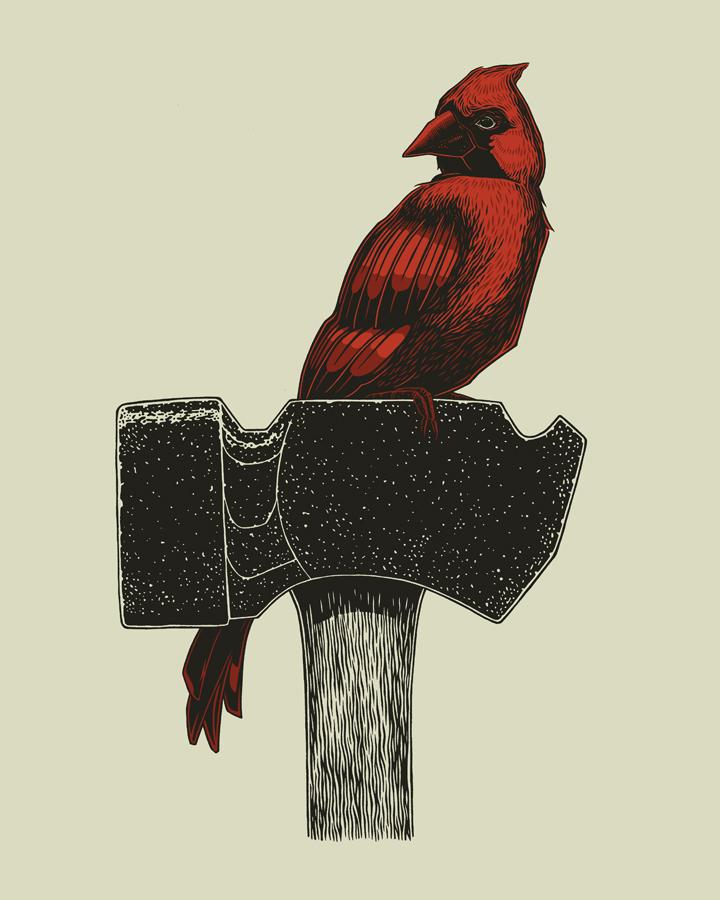 vogl Spring Cardinal and Hammer