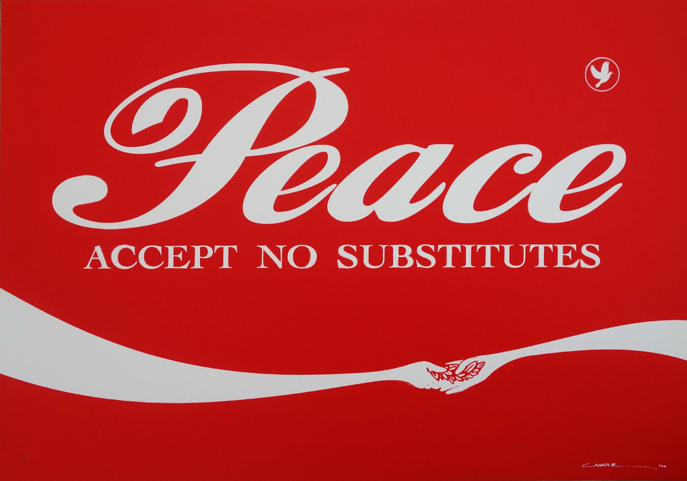 CANVAZ PEACE - ACCEPT NO SUBSTITUTE RED