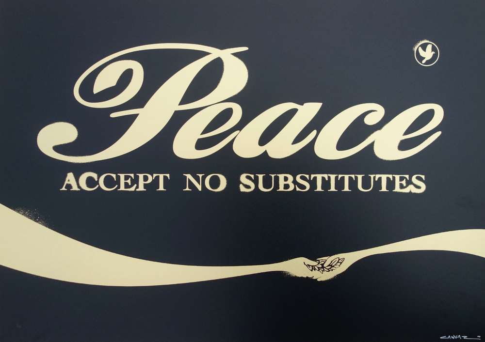 CANVAZ PEACE - ACCEPT NO SUBSTITUTE black