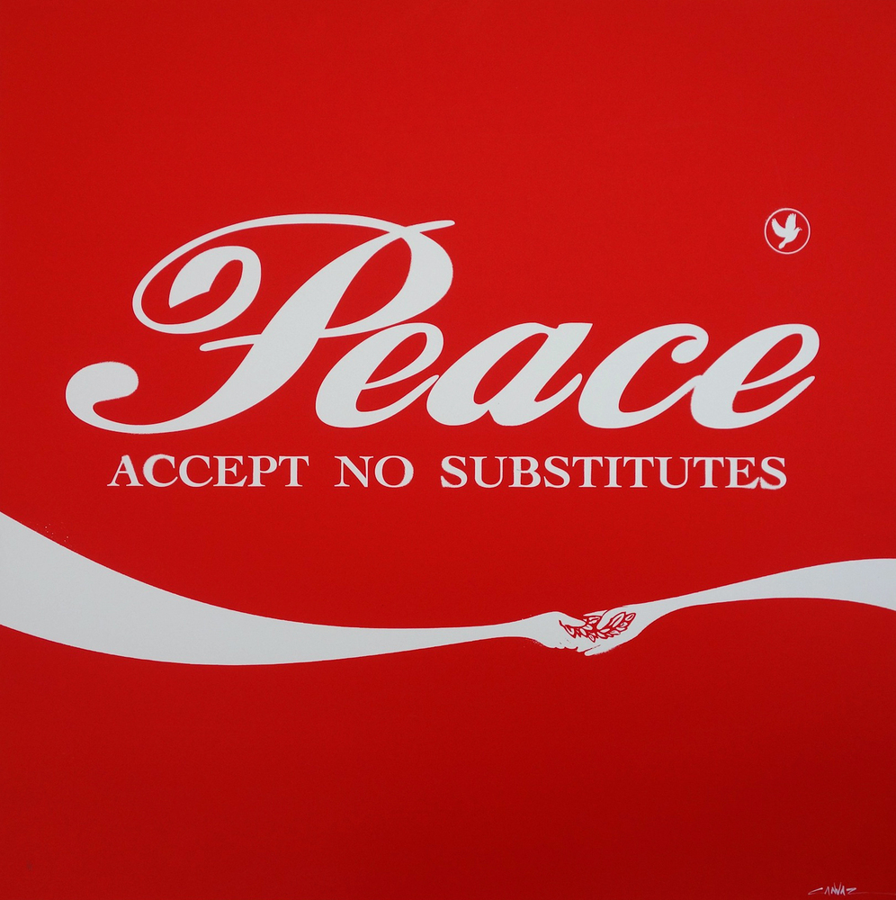 CANVAZ PEACE - ACCEPT NO SUBSTITUTE red square