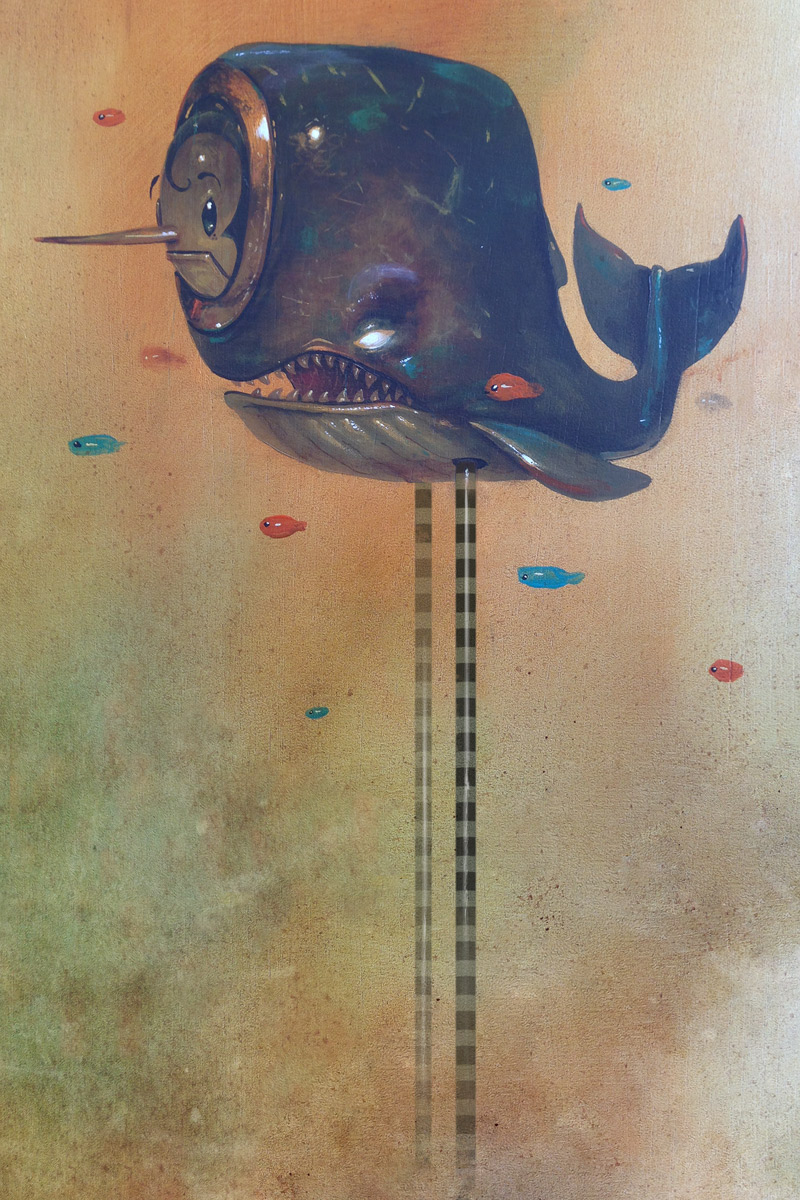 "Pico the Whale by Greg ""Craola"" Simkins, Signed and numbered, 5"" x 7"", $60, edition of 50"
