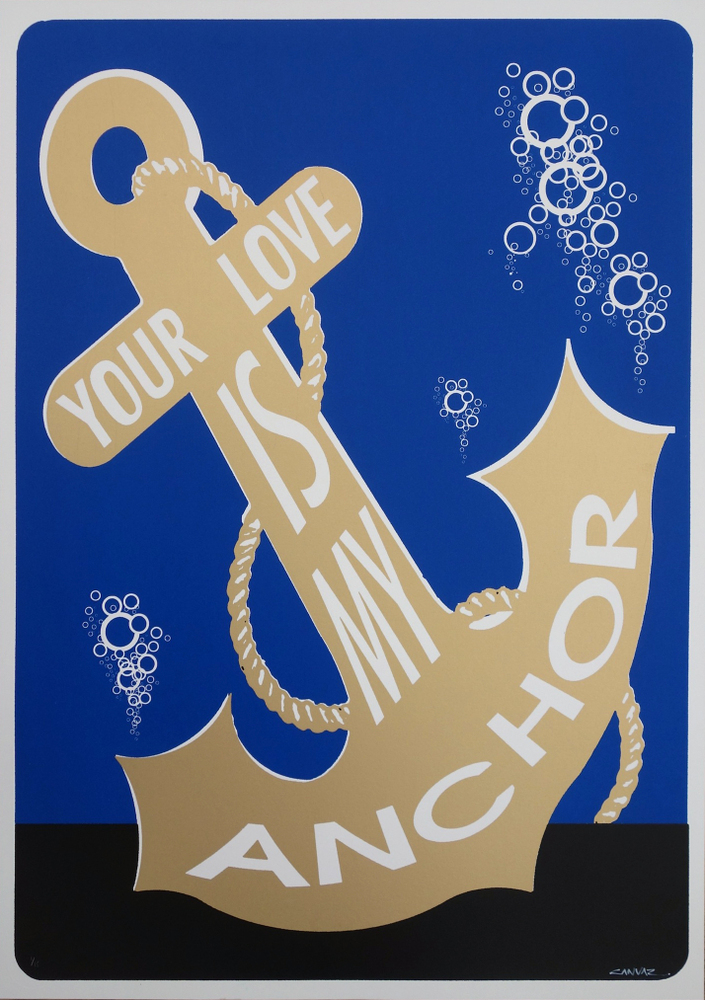 canvaz your love is my anchor blue