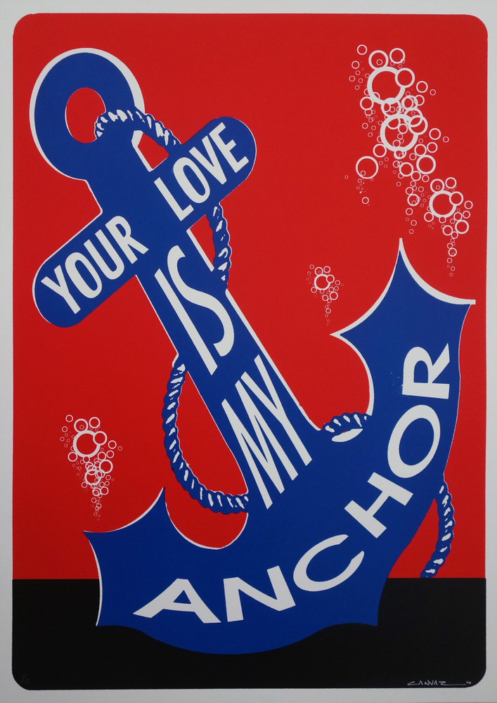 canvaz your love is my anchor red