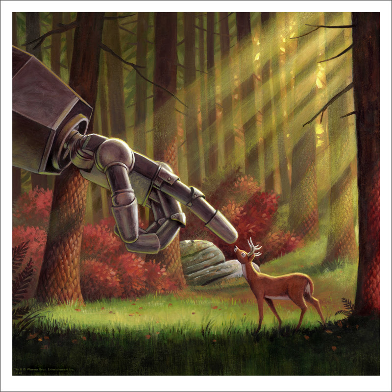 "The Iron Giant (Deer) by Jason Edmiston. 12""x12"" giclee. Hand numbered. Edition of 150. Printed by Static Medium. $50"