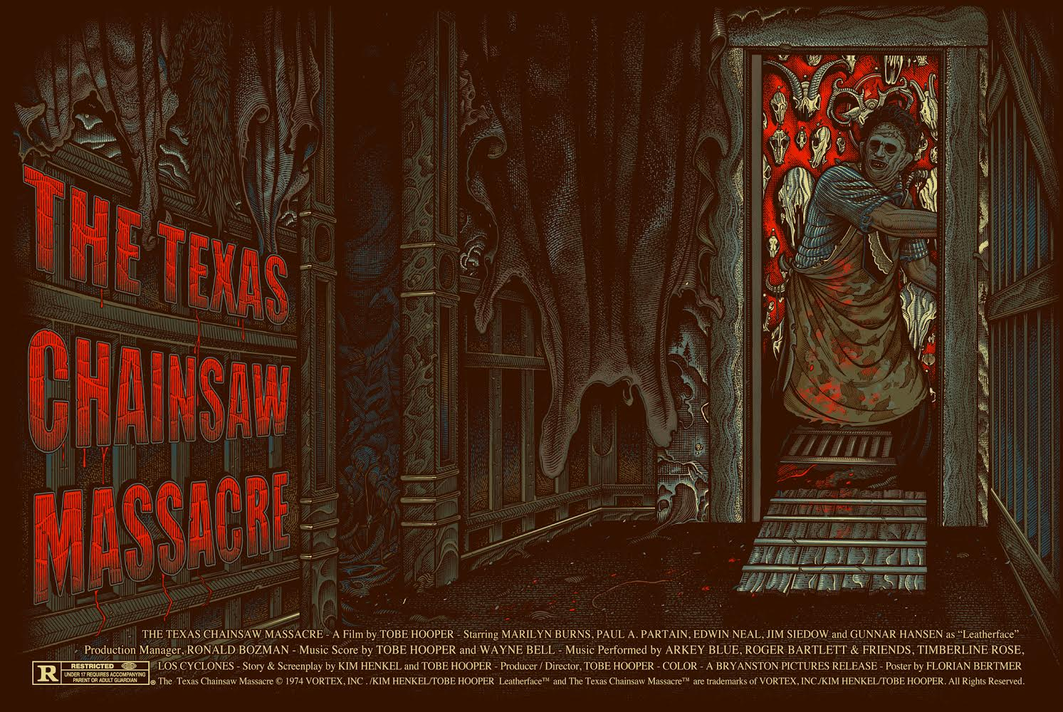 """The Texas Chainsaw Massacre"" by Florian Bertmer.  24"" x 36"" Screenprint.  Ed of 200.  $50"