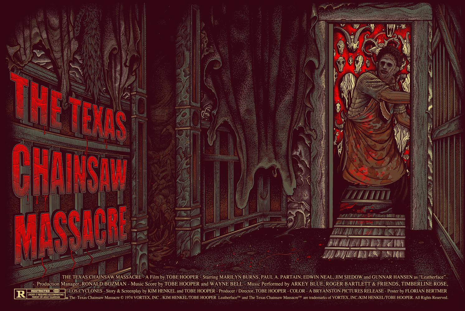 """The Texas Chainsaw Massacre"" by Florian Bertmer.  24"" x 36"" Screenprint.  Ed of 125.  $60 (variant)"