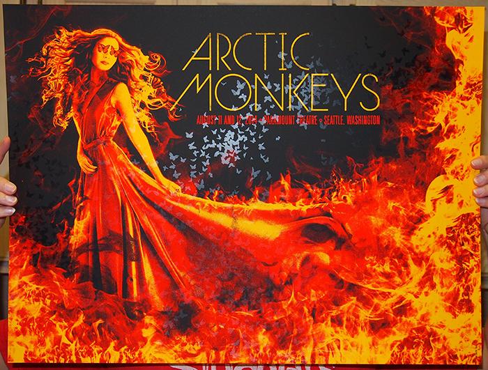 slater Arctic Monkeys - Seattle, WA 2014 red