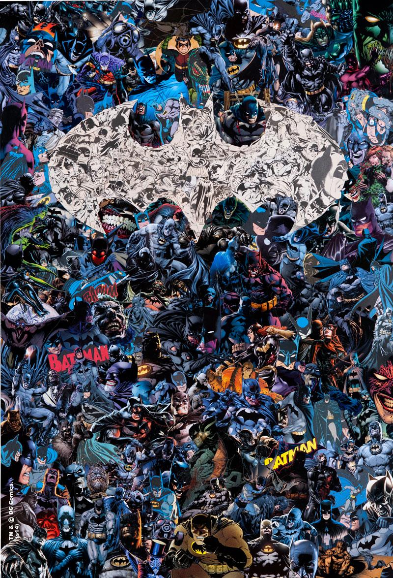 """""""Batman"""" by Mr Garcin.  13"""" x 19"""" Giclee.  Ed of 75 N.  35 € ($43)"""