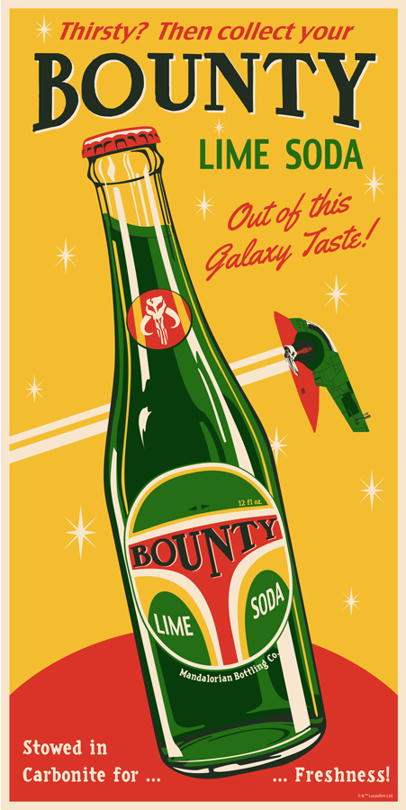 Bounty Boba Fett Soda Steve Thomas Star Wars 4 Ltd