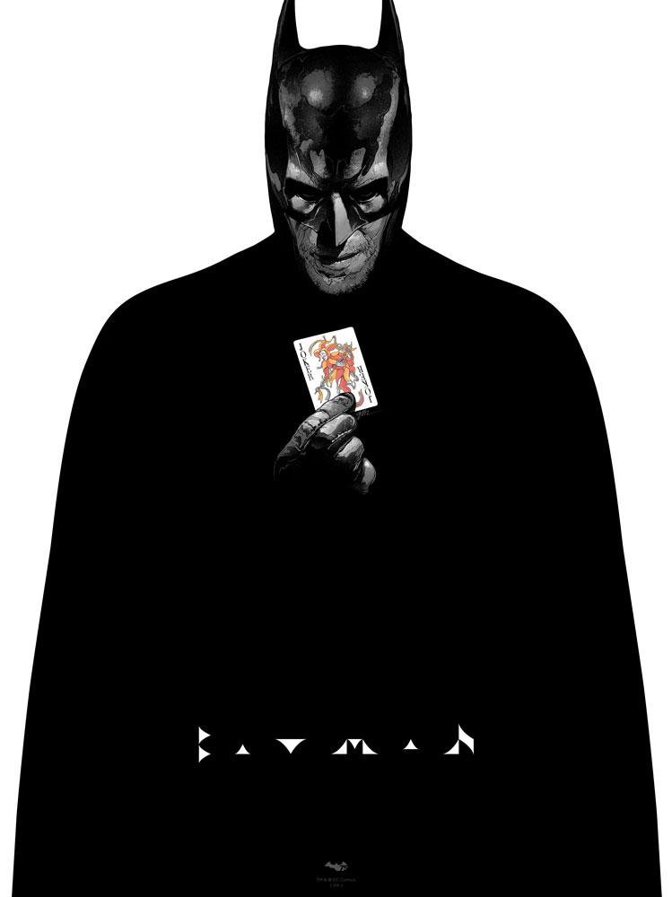 """Batman"" by Grzegorz Domaradzki.  18"" x 24"" 6-color Screenprint.  Ed of 100 N.  40 € ($50)"