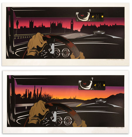 """Rear View"" by D*Face.  48 x 100cm 17-color Screenprint.  Ed of 150.  £500 ($783)"
