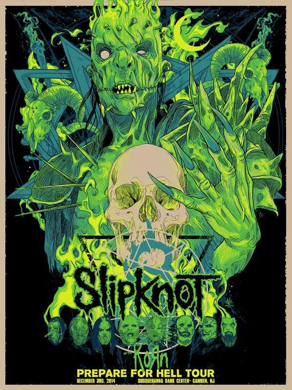 kelly Slipknot - Camden, NJ 2014 variant