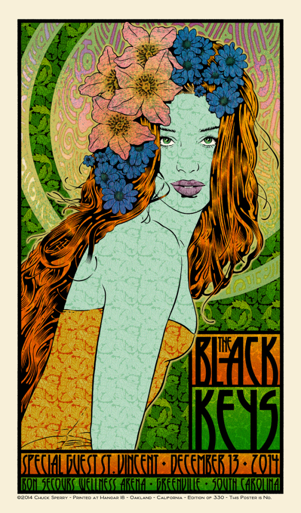 sperry The Black Keys - Greenville, SC 2014