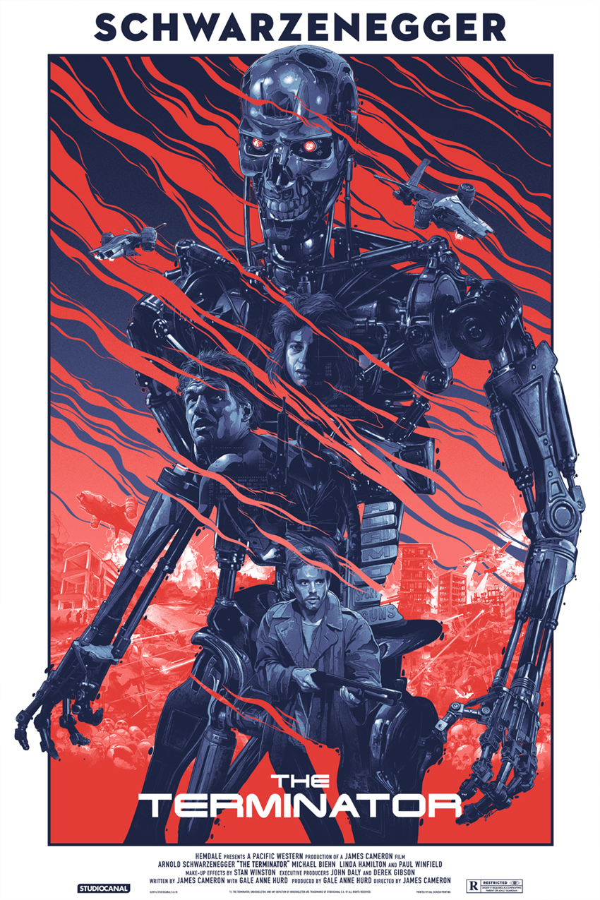 """Terminator"" by Gabz.  24"" x 36"" Screenprint.  Ed of 325.  $50"