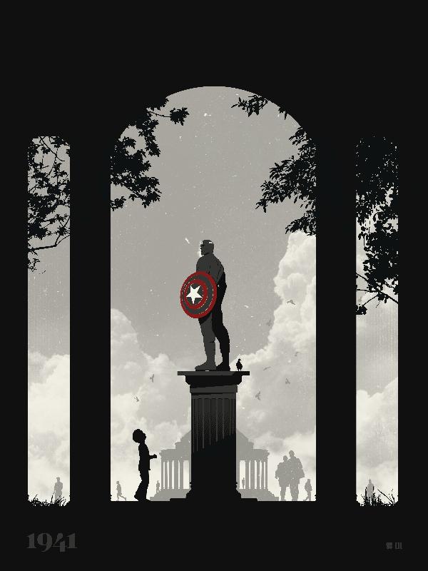 van genderen Captain America Monument variant
