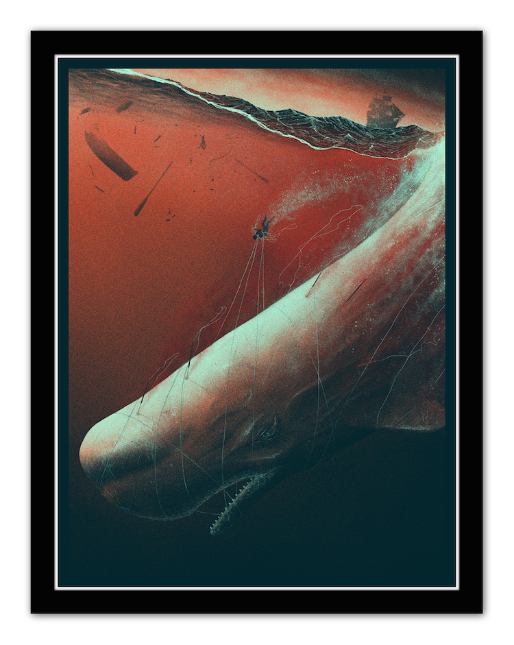 """Descent into Madness"" by Marko Manev.  18"" x 24"" 4-color Screenprint.  Ed of 20 S/N.  $75 (variant)"