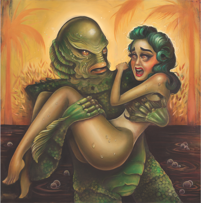 """Creature"" by Tatiana Suarez.  20"" x 20"" Giclee.  Ed of 50.  $65"