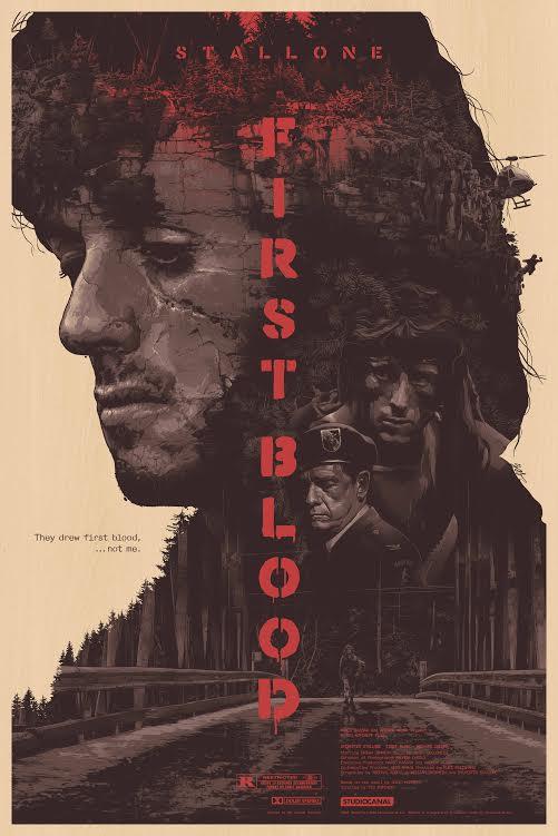"""""""First Blood"""" by Grzegorz Domaradzki (Gabz).  24"""" x 36"""" Screenprint.  Ed of 50.  $250 (wood)"""
