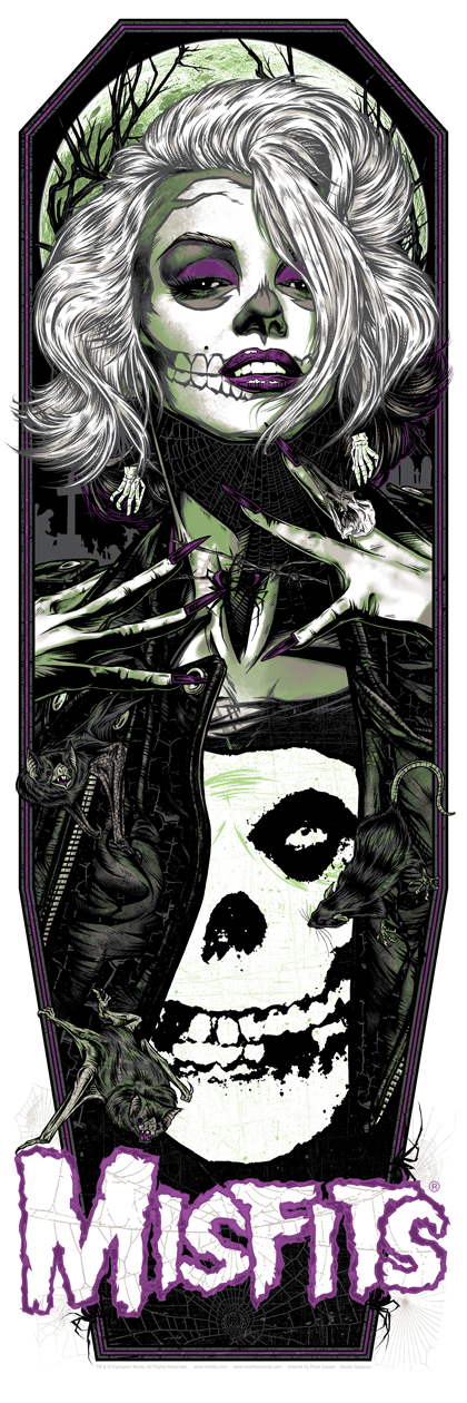 """Original Misfit"" by Rhys Cooper.  12"" x 36"" 6-color Screenprint.  Ed of 77 N.  $50 (variant)"