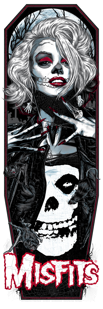 """Original Misfit"" by Rhys Cooper.  12"" x 36"" 6-color Screenprint.  Ed of 138 N.  $50"