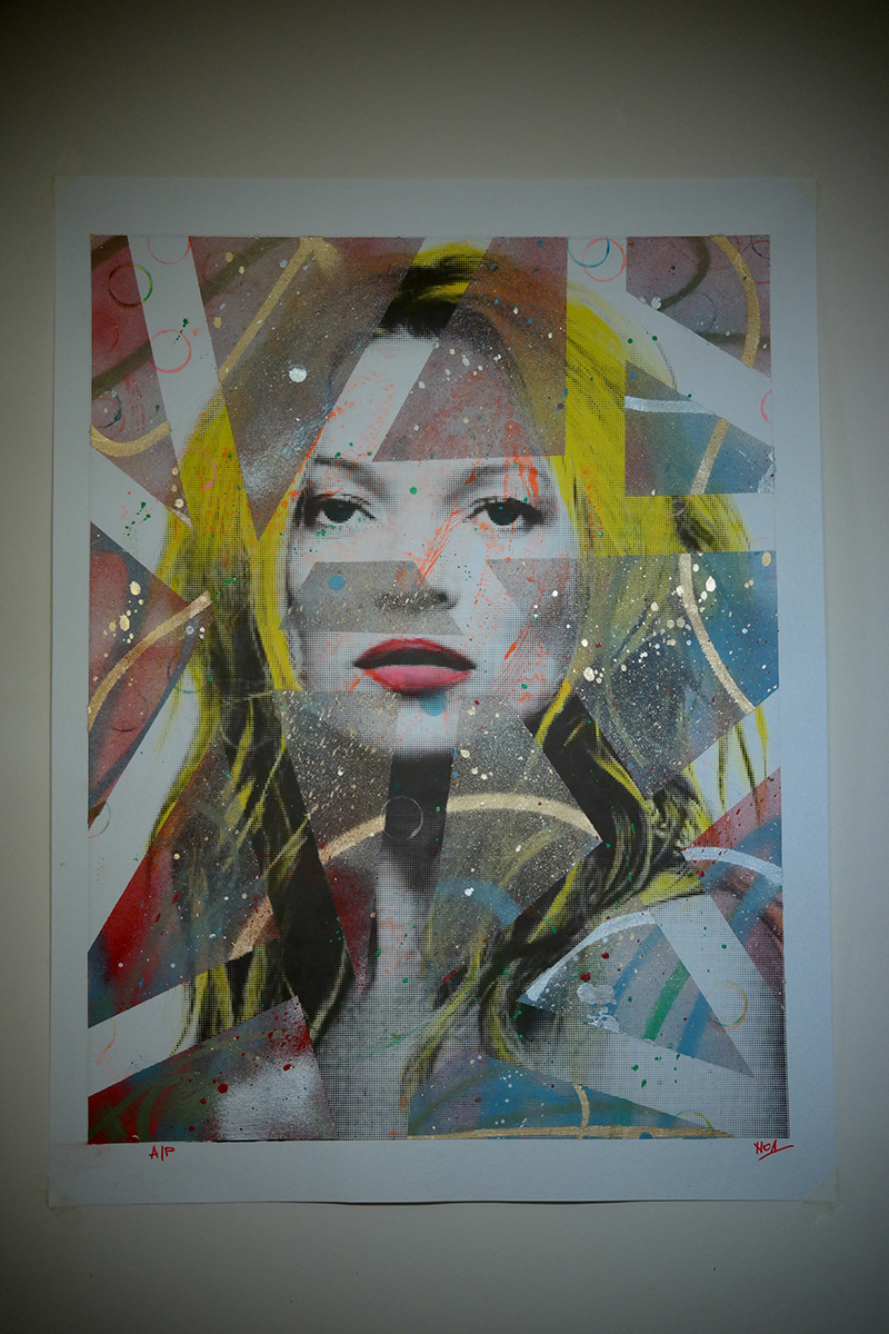 """Kate Moss"" by Noa.  600 x 800mm Mixed media.  250 Euro ($268)"