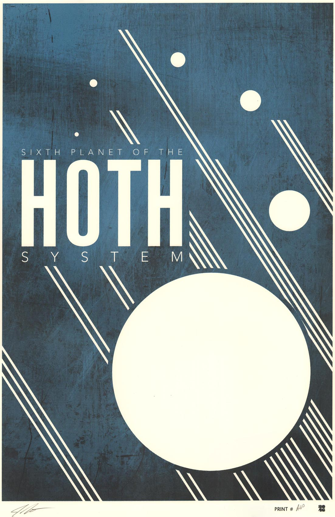 """Hoth"" by Justin Van Genderen.  16"" x 24"" Screenprint.  Ed of 60 S/N.  $45"