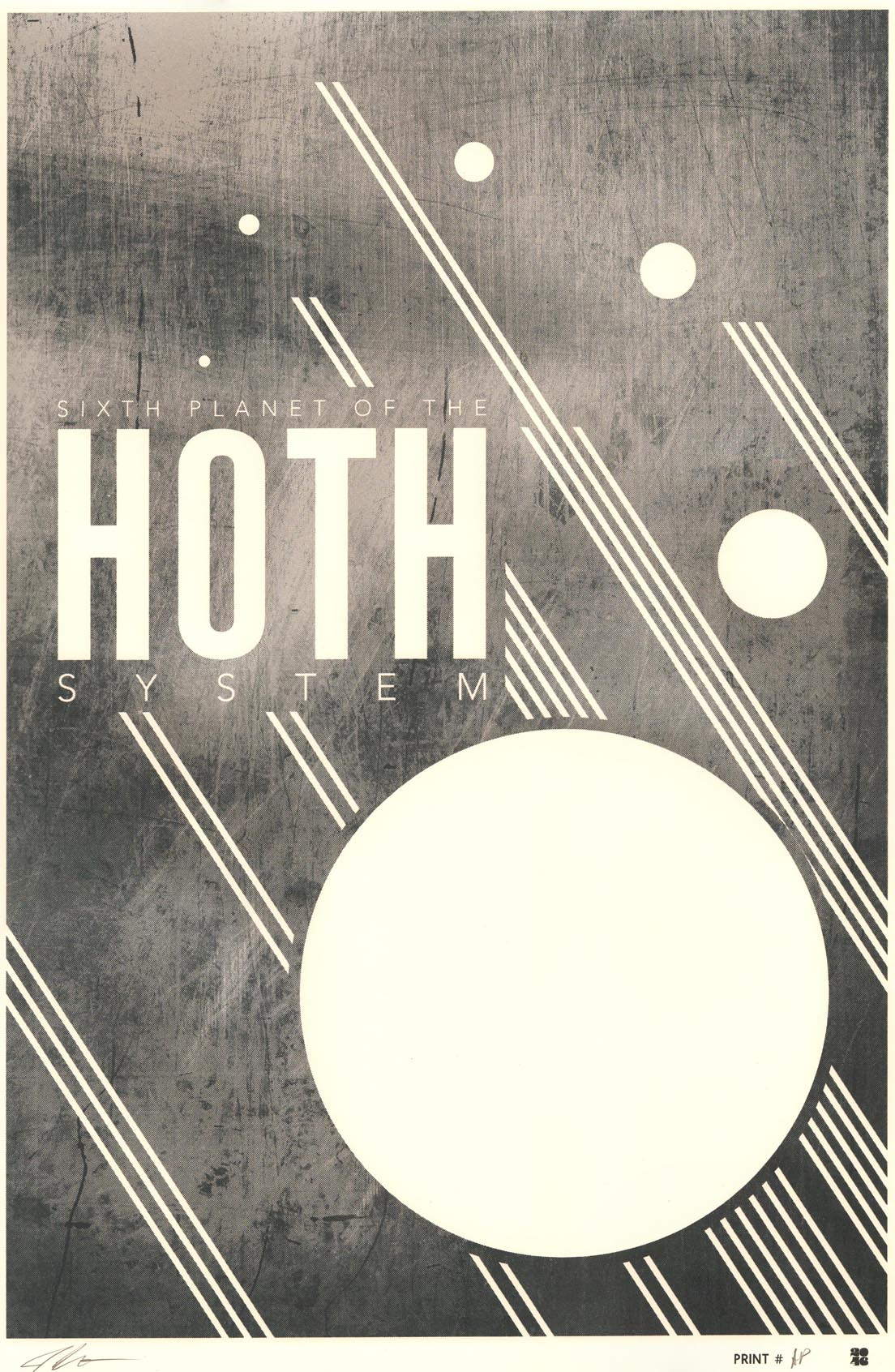"""Hoth"" by Justin Van Genderen.  16"" x 24"" Screenprint.  Ed of 30 S/N.  $55 (Metallic variant)"