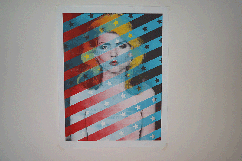 """Debbie Harry"" by Noa.  600 x 800mm Mixed media w/ GID.  Signed.  215 Euro ($227)"