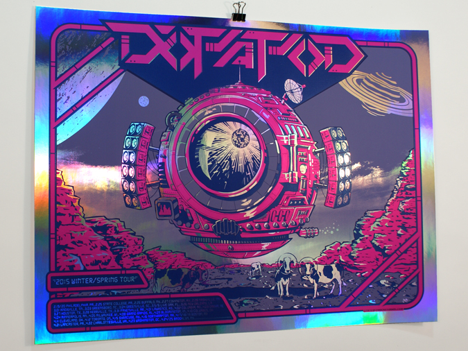 """Dopapod - Winter/Spring 2015"" by Darin Shock.  24"" x 18"" 3-color Screenprint."