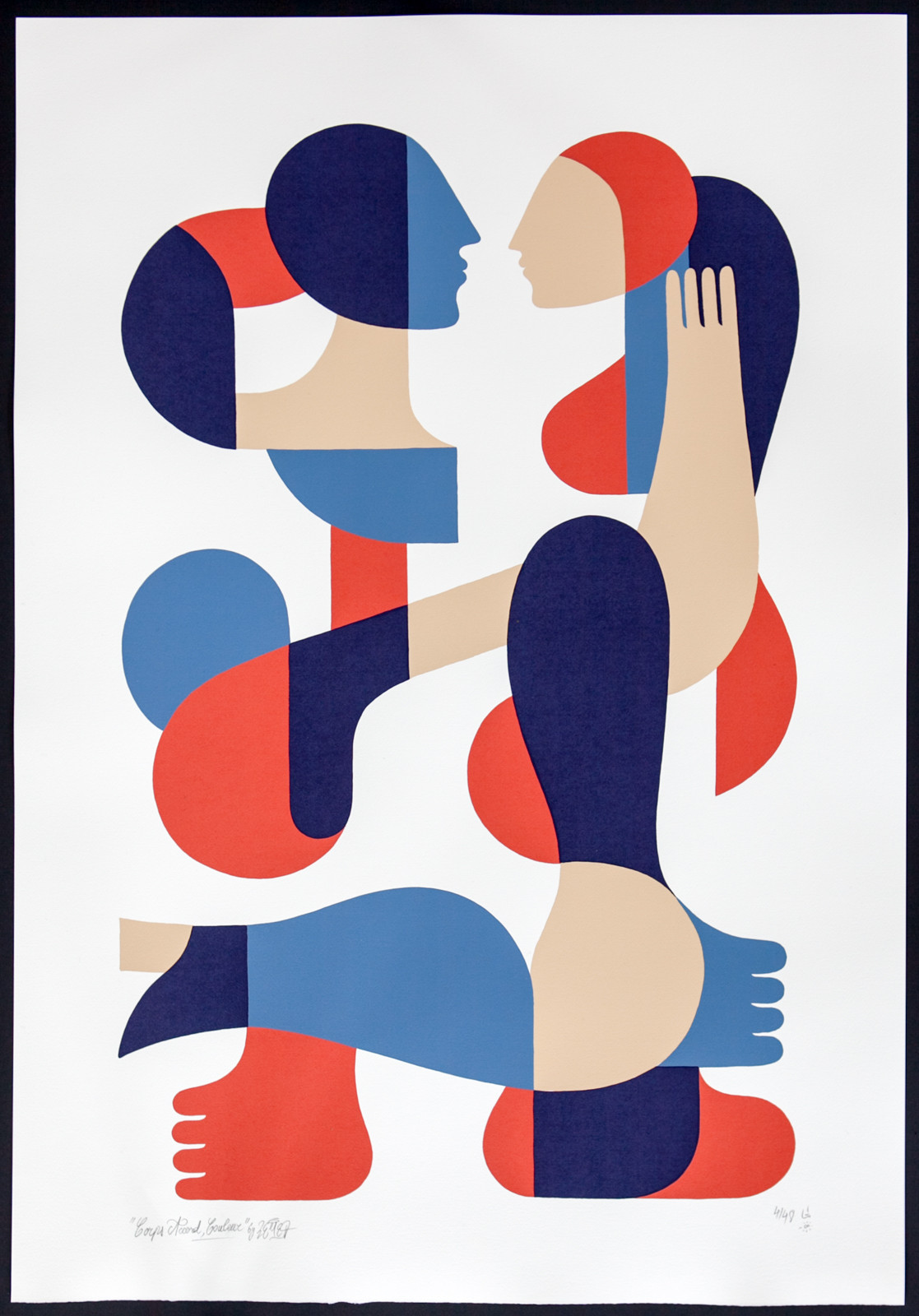 """Corps Accord, Couleurs"" by Remed.  66 x 96cm 4-color Screenprint.  Ed of 48 S/N.  €320 ($351)"