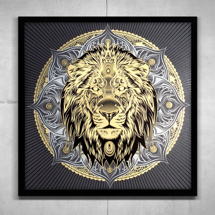 "Lion Mandala"" by Chris Saunders 